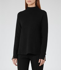 Reiss Sofie Womens High Neck A Line Jumper In Black