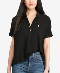 Polo Ralph Lauren Drapey Mesh Polo Black