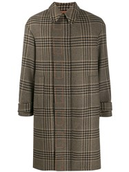 Just Cavalli Houndstooth Check Coat Brown