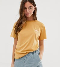 Quiksilver Standard Short Sleeved T Shirt In Yellow