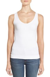 Women's Nydj Contour Knit Body Shaper Tank Optic White