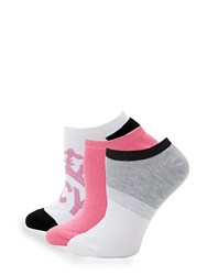 Juicy Couture Three Pack Classic Ankle Socks White