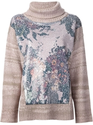 Antonio Marras Sequin Embroidered Sweater Pink And Purple