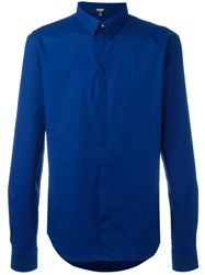 Versus Embroidered Logo Shirt Blue