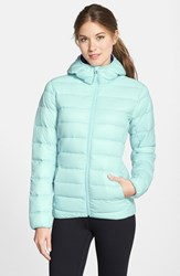 Women's Adidas Water Resistant Quilted Down Jacket Blue