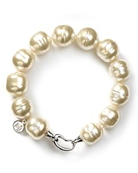 Majorica 14Mm Baroque Simulated Pearl Bracelet White