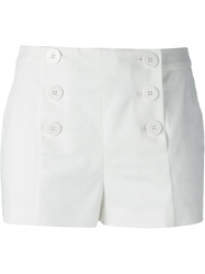 Red Valentino Buttoned Sailor Shorts White