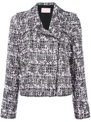 Giamba Tweed Biker Jacket Pink Purple