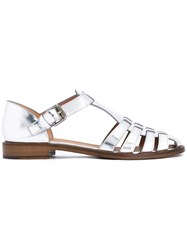 Church's Buckled Flat Sandals Women Calf Leather Leather 37 Metallic