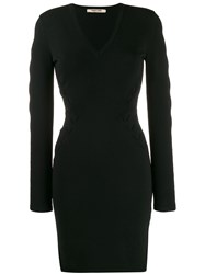 Roberto Cavalli Cut Out Fitted Dress Black