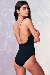 Out From Under Rainbow Bungee Bodysuit Black