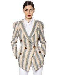 Vivienne Westwood Striped Cotton Canvas Jacket