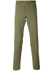 Pt01 Slim Fit Chino Trousers Men Cotton Spandex Elastane 58 Green