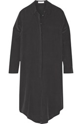 Equipment Pascal Washed Silk Tunic Black