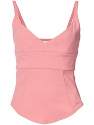 Tome Structured Tank Top Silk Crepe M Pink Purple