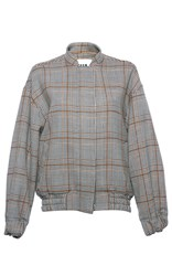 Msgm Plaid Double Face Wool Bomber