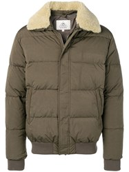 Pyrenex Padded Bomber Jacket Green