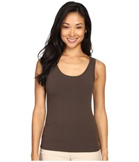 Nic Zoe Petite Perfect Tank River Rock Women's Sleeveless Brown