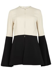 Rosetta Getty Black And Off White Bell Sleeve Jacket