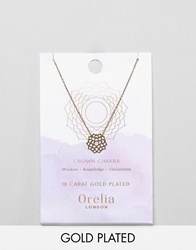 Orelia Gold Plated Crown Chakra Necklace Gold