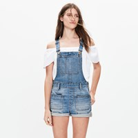 Madewell Adirondack Short Overalls In Isley Wash
