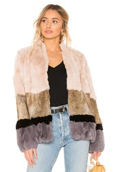 Heartloom Chandler Rabbit Fur Jacket Cream