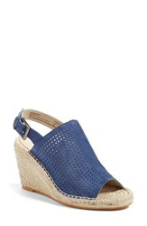 Caslonr Women's Caslon 'Sutton' Slingback Mule Blue Denim Perferated Suede