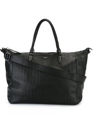 Zanellato Textured Zipped Tote Bag Black