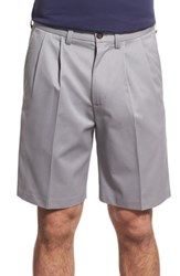Nordstrom Shop Smartcare Tm Pleated Shorts Grey Filigree