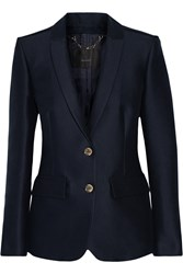 Belstaff Ashden Cotton And Silk Blend Blazer Blue