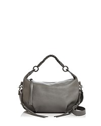 Botkier Alexa Leather Hobo Slate Gunmetal