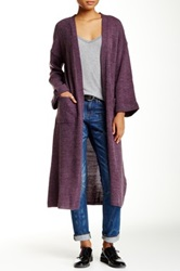 Re Named Apparel Long Cable Knit Cardigan
