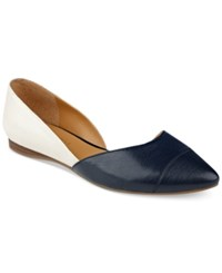 Tommy Hilfiger Naria D'orsay Pointed Toe Flats Women's Shoes Ivory Black