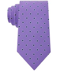 Club Room Men's Drifters Dot Pattern Classic Tie Only At Macy's Purple
