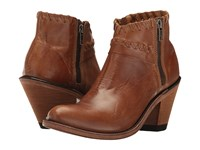 Old West Boots Crisscross Stitch Ankle Boot Tan Canyon Cowboy Brown
