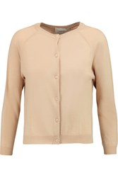 Simone Rocha Merino Wool Silk And Cashmere Blend Cardigan Nude