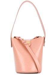 Sophie Hulme Mini Bucket Shoulder Bag Nude And Neutrals