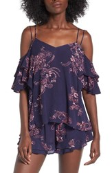 Sun And Shadow Women's Cold Shoulder Top