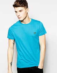 Voi Jeans T Shirt Plain Logo Blue