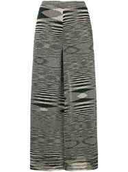 Missoni Tribal Print Cropped Flared Trousers Black
