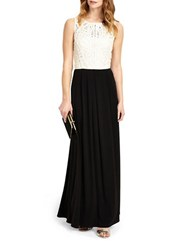 Phase Eight Bondia Two Tone Gown Champagne Black