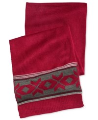 Club Room Men's Fair Isle Scarf Only At Macy's Red