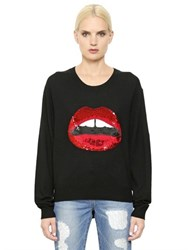 Markus Lupfer Lip Embellished Wool Sweater
