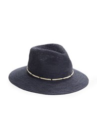 Vince Camuto Woven Fedora Blue