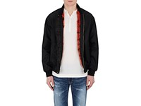 Mr And Mrs Italy Men's Mink Fur Lined Bomber Jacket Black