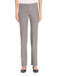 Aquilano Rimondi Virgin Wool Blend Straight Leg Pants Grey