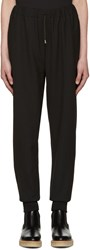 Mcq By Alexander Mcqueen Black Textured Lounge Pants