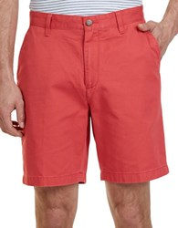 Nautica Deck Classic Fit Cotton Shorts Red