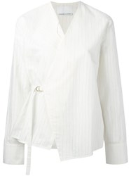 Charlie May Wrap Shirt Nude Neutrals