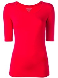 Majestic Filatures Scoop Neck T Shirt Red